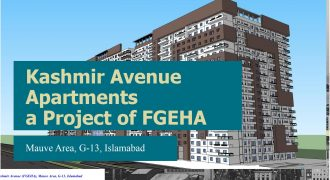 Apartment for sale on Installments FGEHA G-13 Kashmir Avenue A-Type 3 beds apartment.