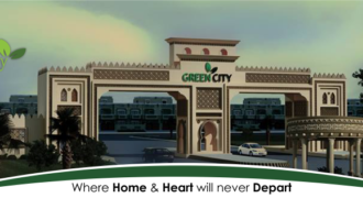 One Kanal Plot for sale Green City Near Islamabad Airport. Plot no. 23 Corner, St:33, Block A.  Demand 42 lac