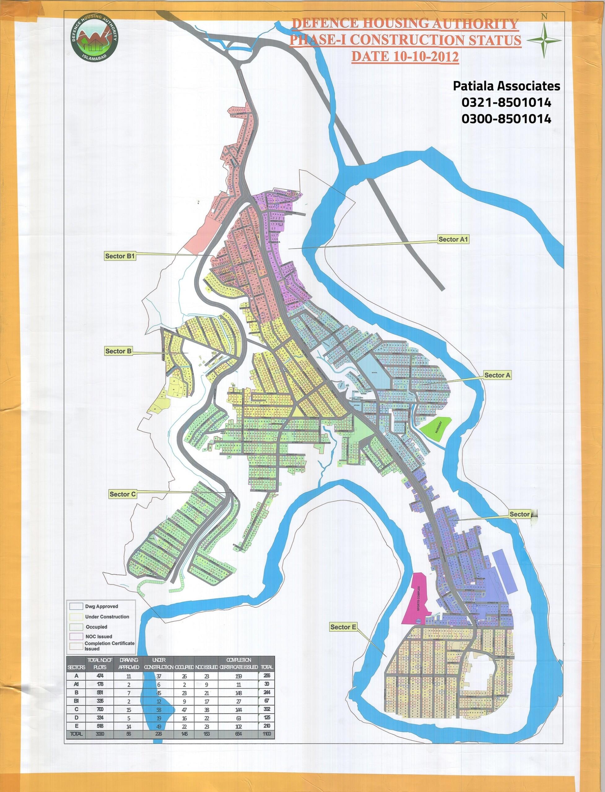 DHA Islamabad-Phase-I Map