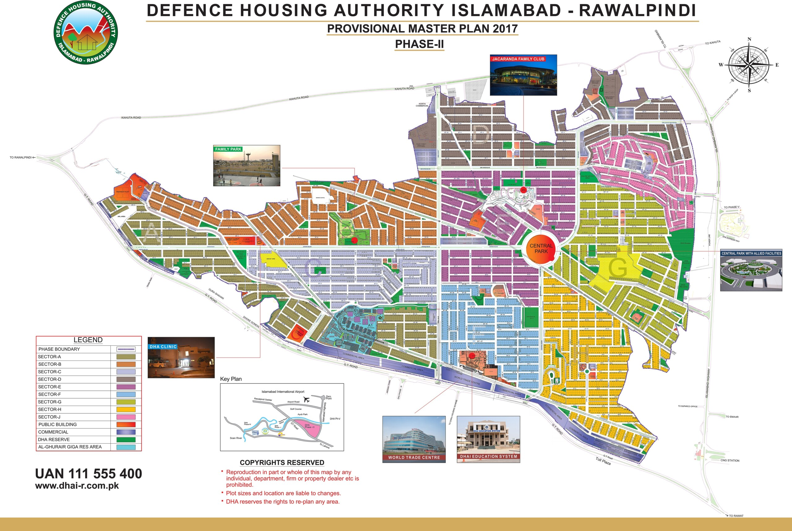 DHA Islamabad Phase 2 Map