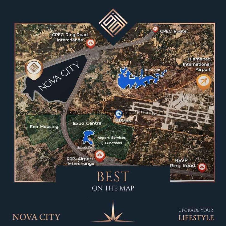 Location of Nova City Islamabad